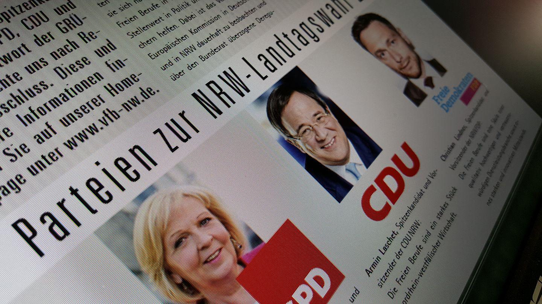 Sreenshot des eNewsletters des VFB NRW