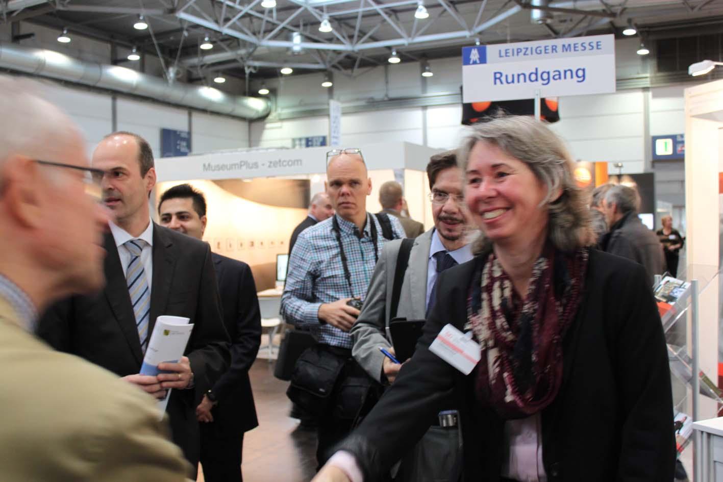Der VDR auf der Fachmesse denkmal. Im Bild: Geschäftsführerin Katharina Trifterer. Foto: Patricia Brozio