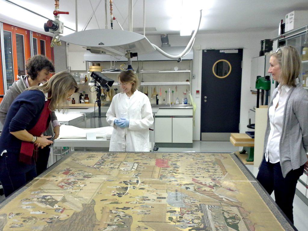 Ausflug der Fachgruppe Ende 2016 in das Völkerkundemuseum nach Herrnhut. Im Bild: die Klotsche-Werkstatt Dresden.