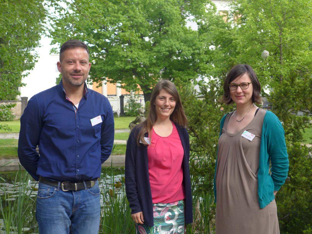 v.l.nr.: Fachgruppen-Sprecher Tino Simon, Sibylle Wulff und Cornelia Saffarian
