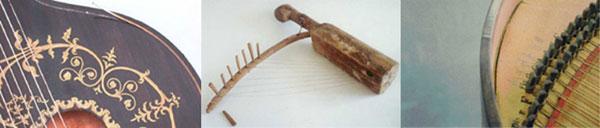 Beispiele für die Vielfalt an Instrumenten, die von Restauratoren betreut werden. Fotos: Musikinstrumentenmuseum im Münchner Stadtmuseum