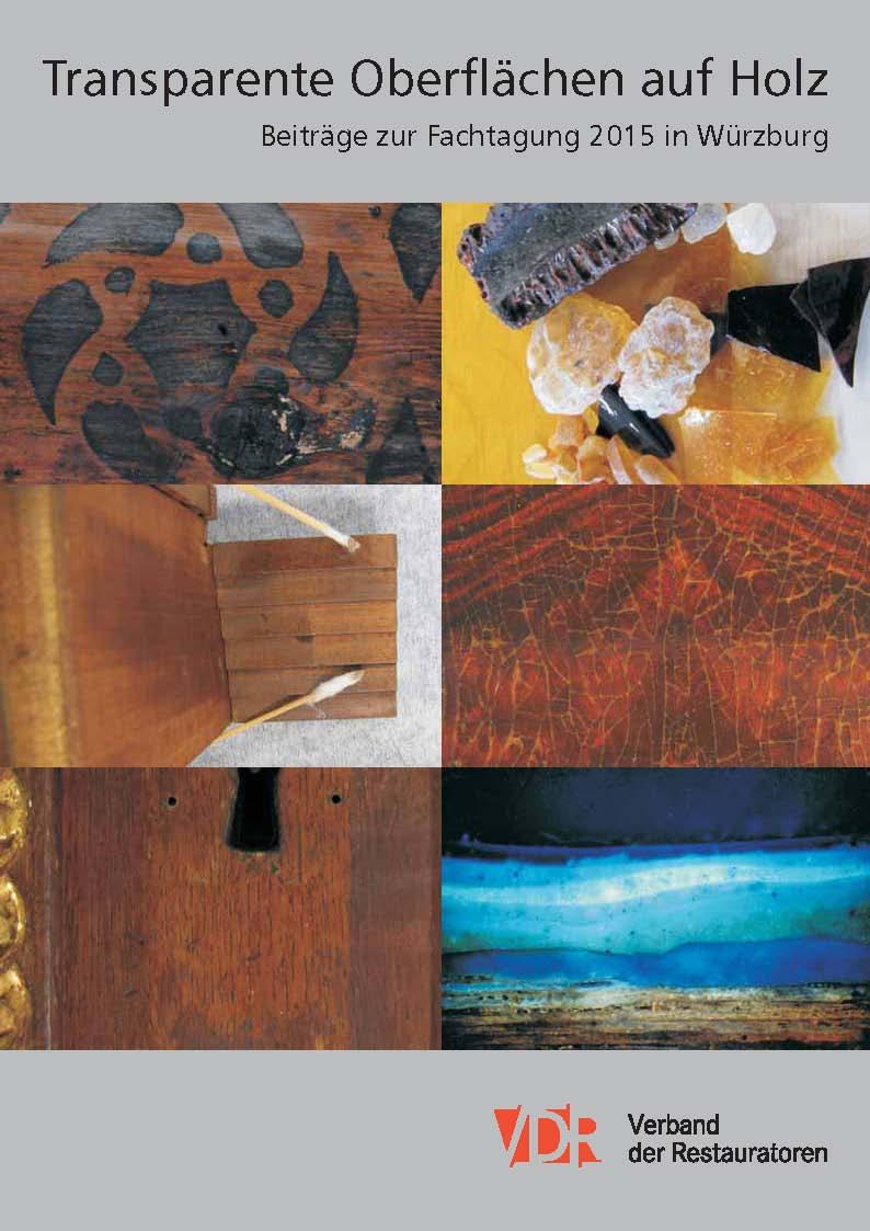 """Cover von """"Transparente Oberflächen auf Holz"""", herausgegeben vom VDR im Frühjahr 2017"""