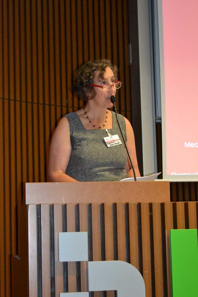 Mechthild Noll-Minor, Brandenburgisches Landesamt für Denkmalpflege und Archäologisches Landesmuseum, spricht über transdisziplinäres Arbeiten in der Denkmalpflege.