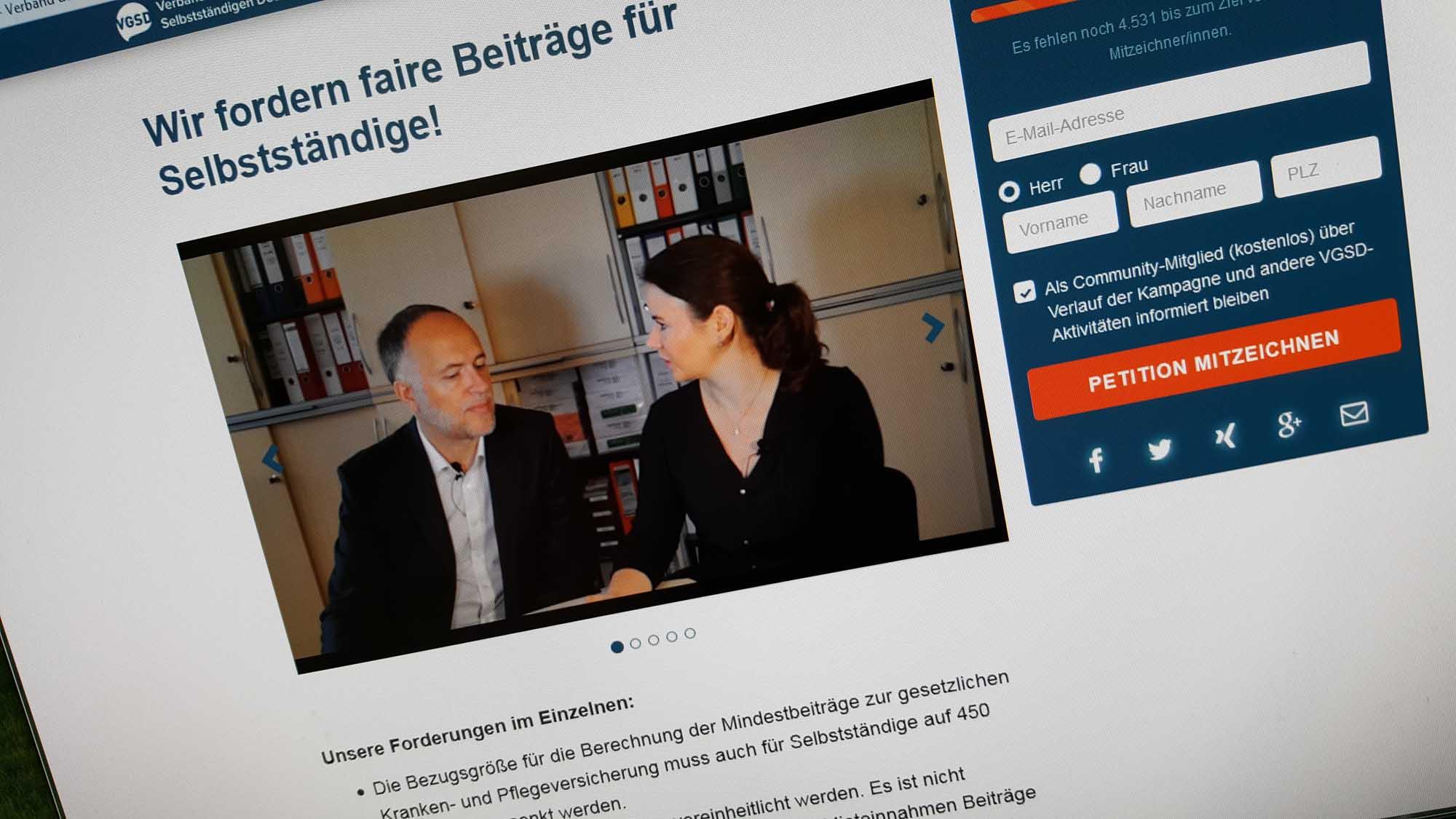 Der Verband der Gründer und Selbständigen informiert sehr umfassend zum Thema mit mehreren Videos. Bild: Website des VGSD