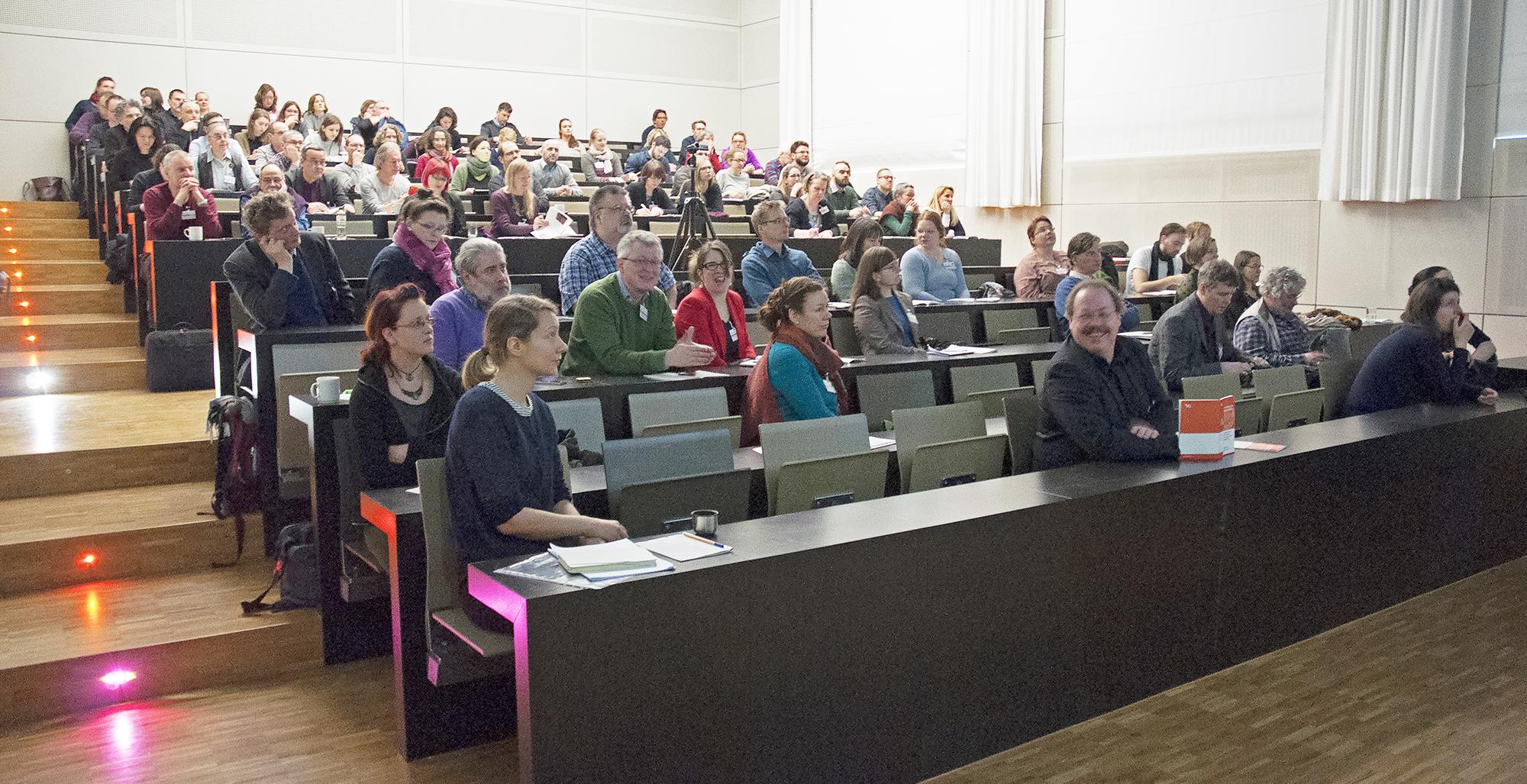 Auditorium der 3D-Tagung an der HfBk Dresden.