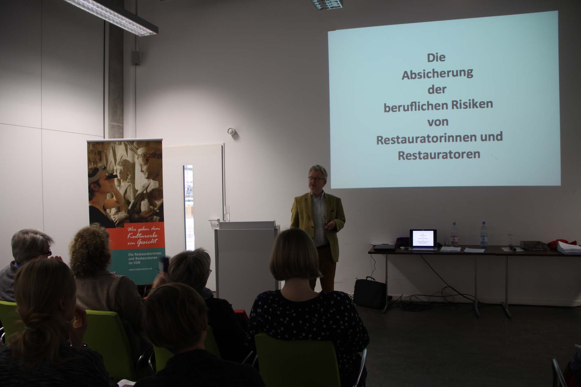 Bernd von Bieler über Absicherung von Restauratoren