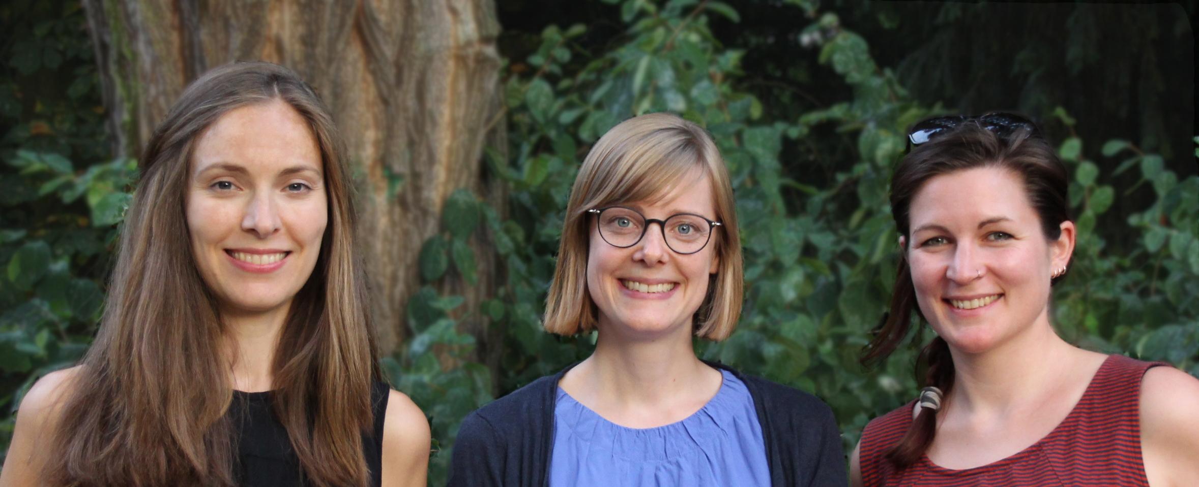 Der 2018 gewählte Vorstand der Fachgruppe Textil (vlnr) Verena Thiemann, Kerstin Heitmann und Laura Peters