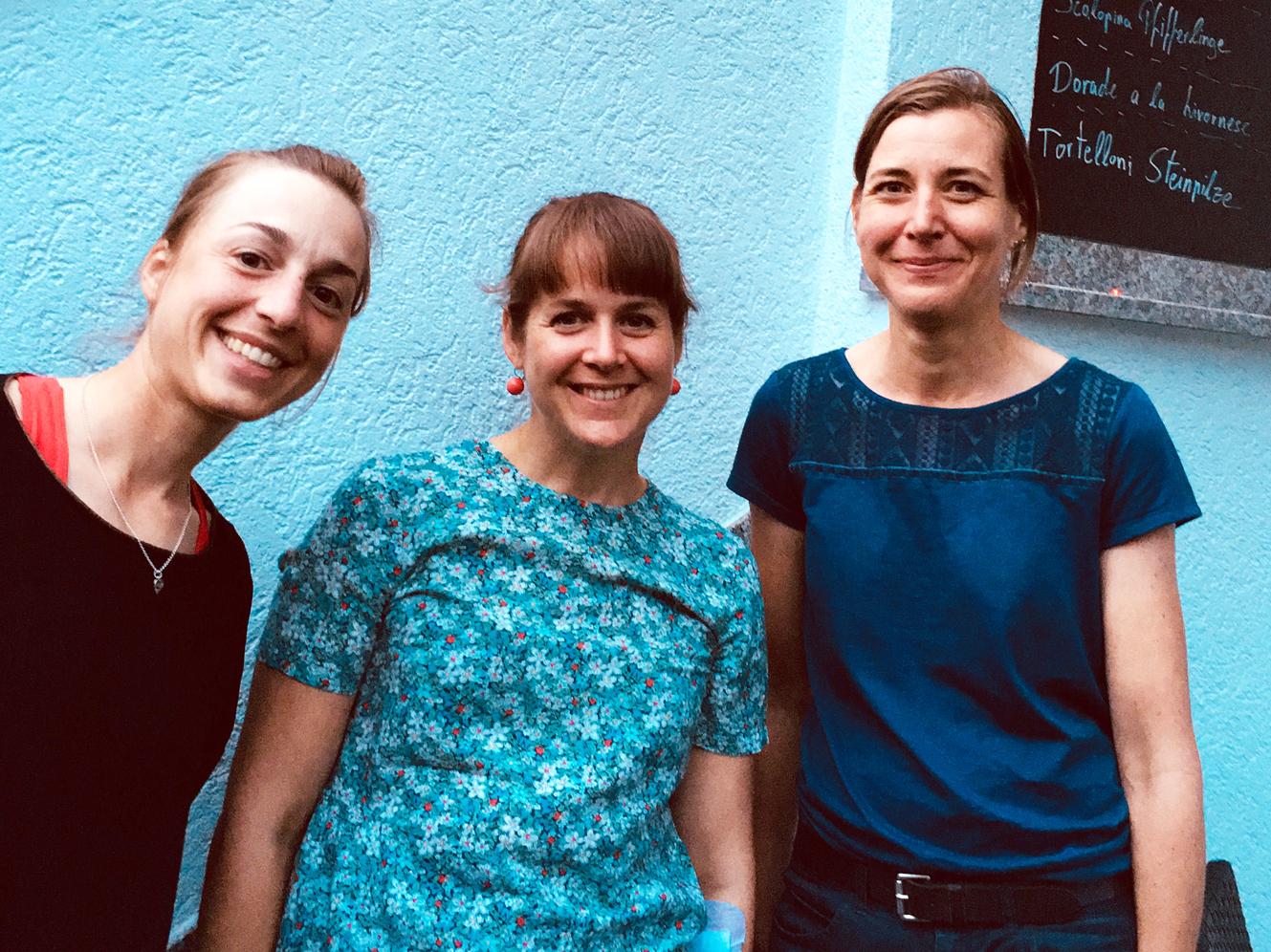 Die gewählten Sprecherinnen der Landesgruppe Hessen: (v.li.) Elisabeth Ursprung, Susanne Danter und Gesine Betz (Foto: Pascale Regnault)