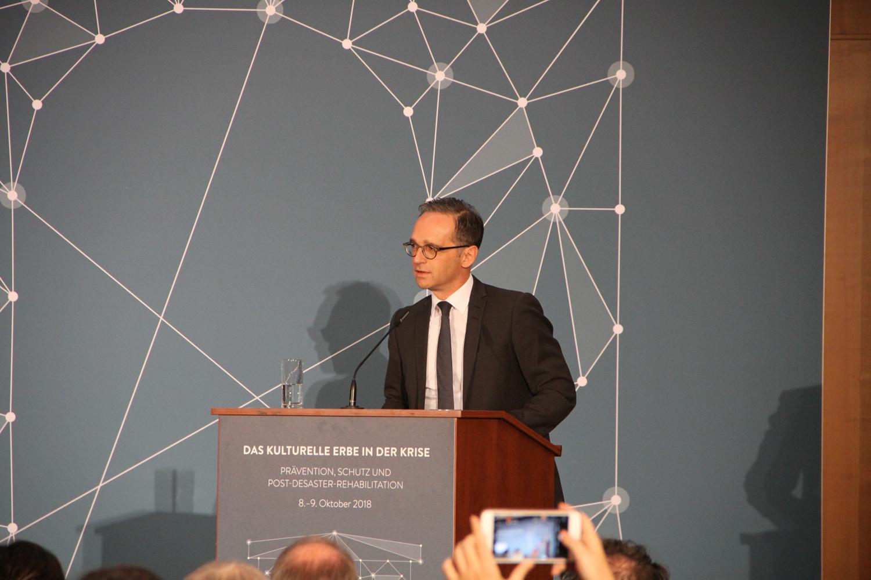 Außenminister Heiko Maas bei der Eröffnungsrede der Tagung. Foto: Tatjana Held.