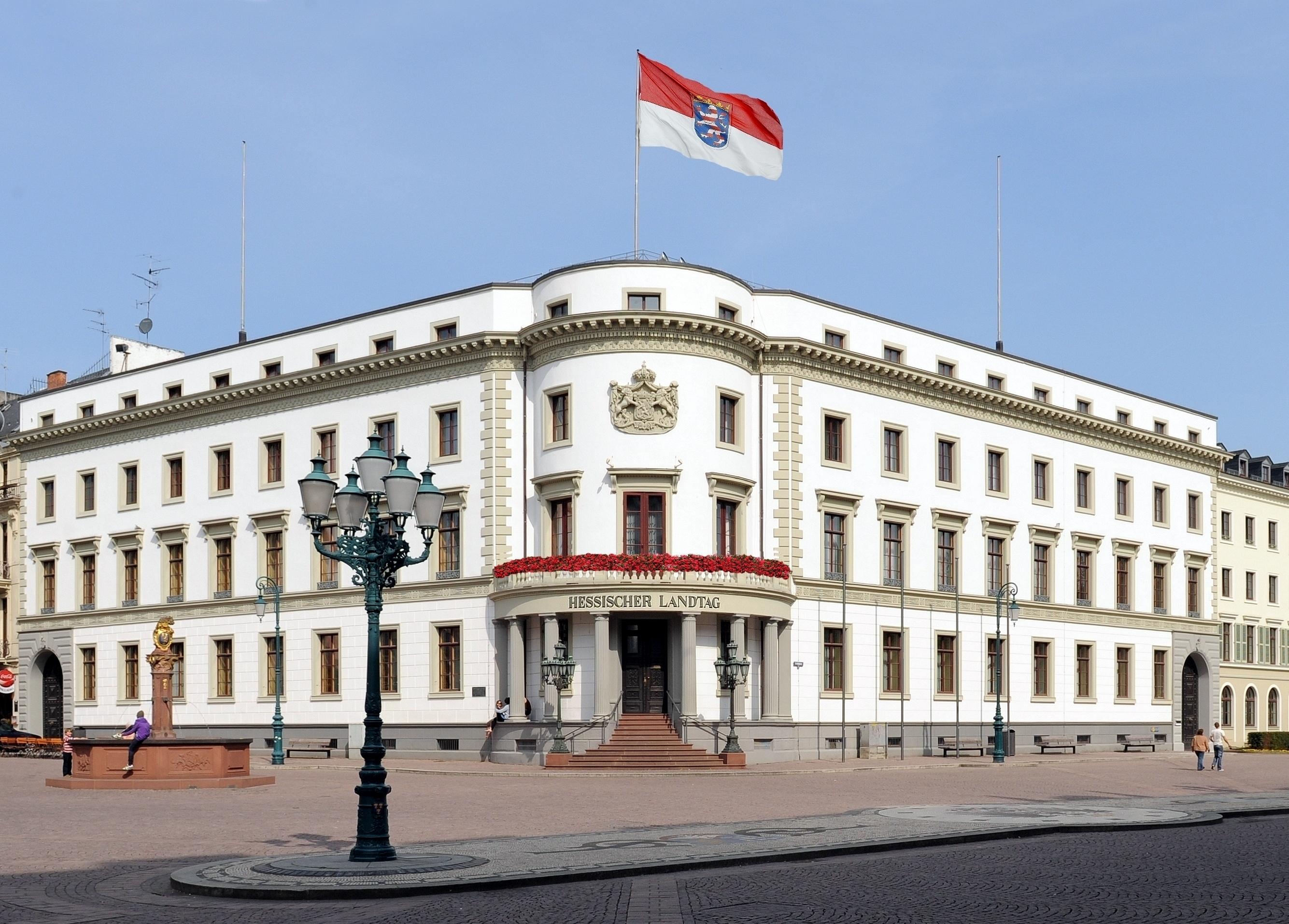 Das Wiesbadener Stadtschloss (Foto: Hessischer Landtag; H. Heibel)