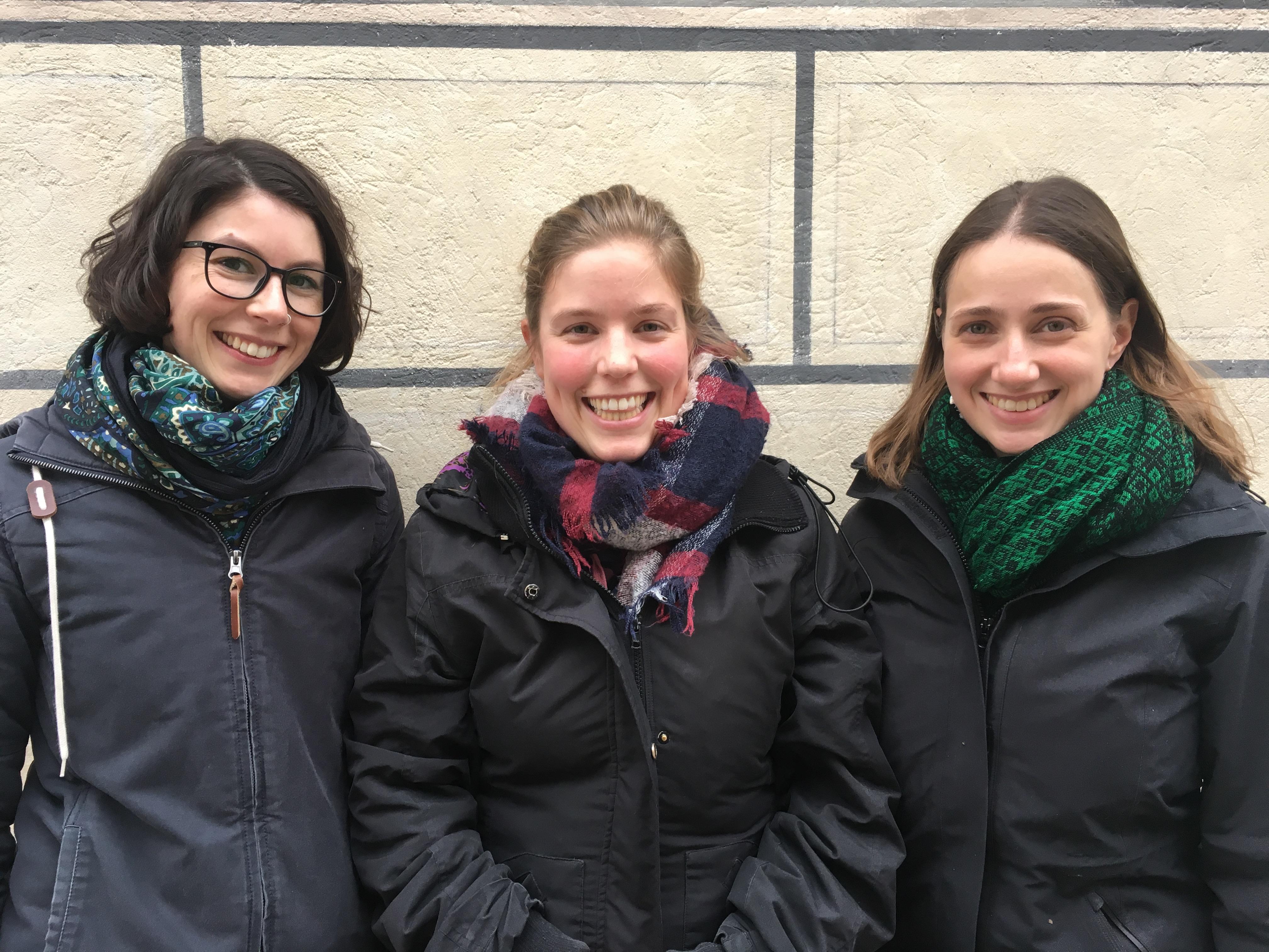 Die Sprecherinnen der Landesgruppe Bayern: (von li.) Isabel Wagner, Julia Brandt und Helena Ernst