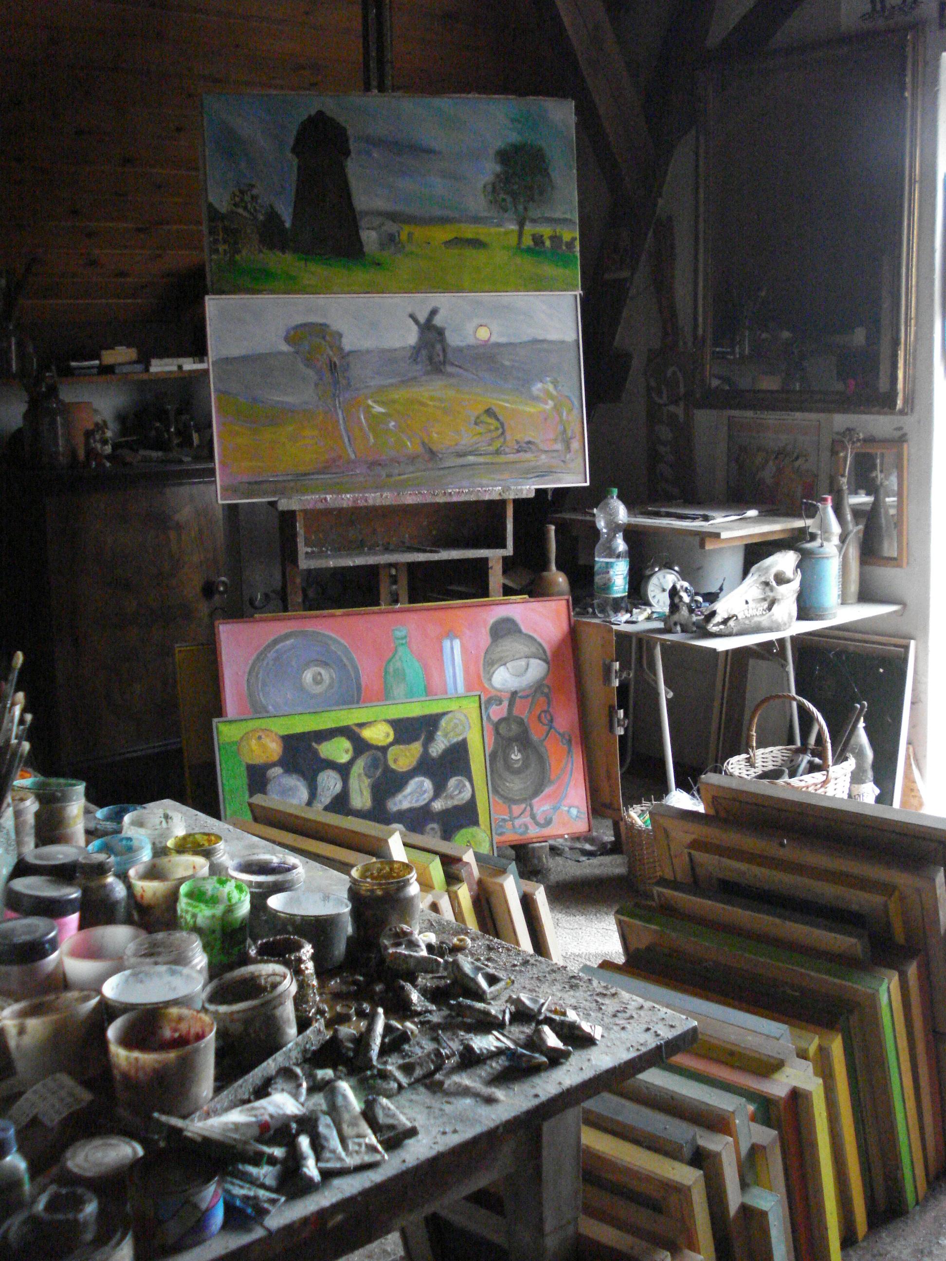 Atelier und Nachlassdepot Walter Lauche (1939-2010) (Foto: Magdalena Lauche)