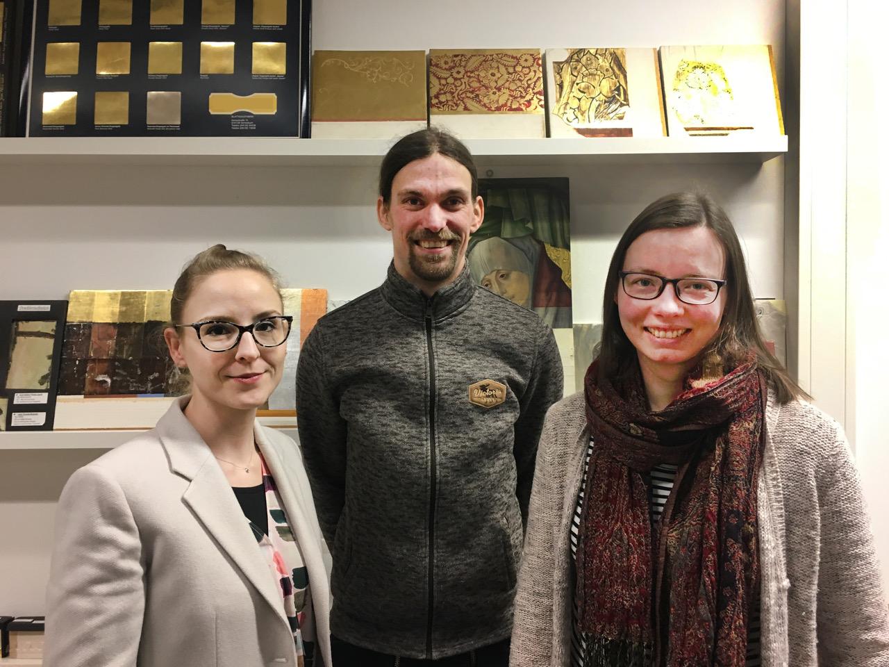 Die Sprecher der Landesgruppe Niedersachsen. Von links: Bianca Floss, Hanno Alsen und Eva Abramowski