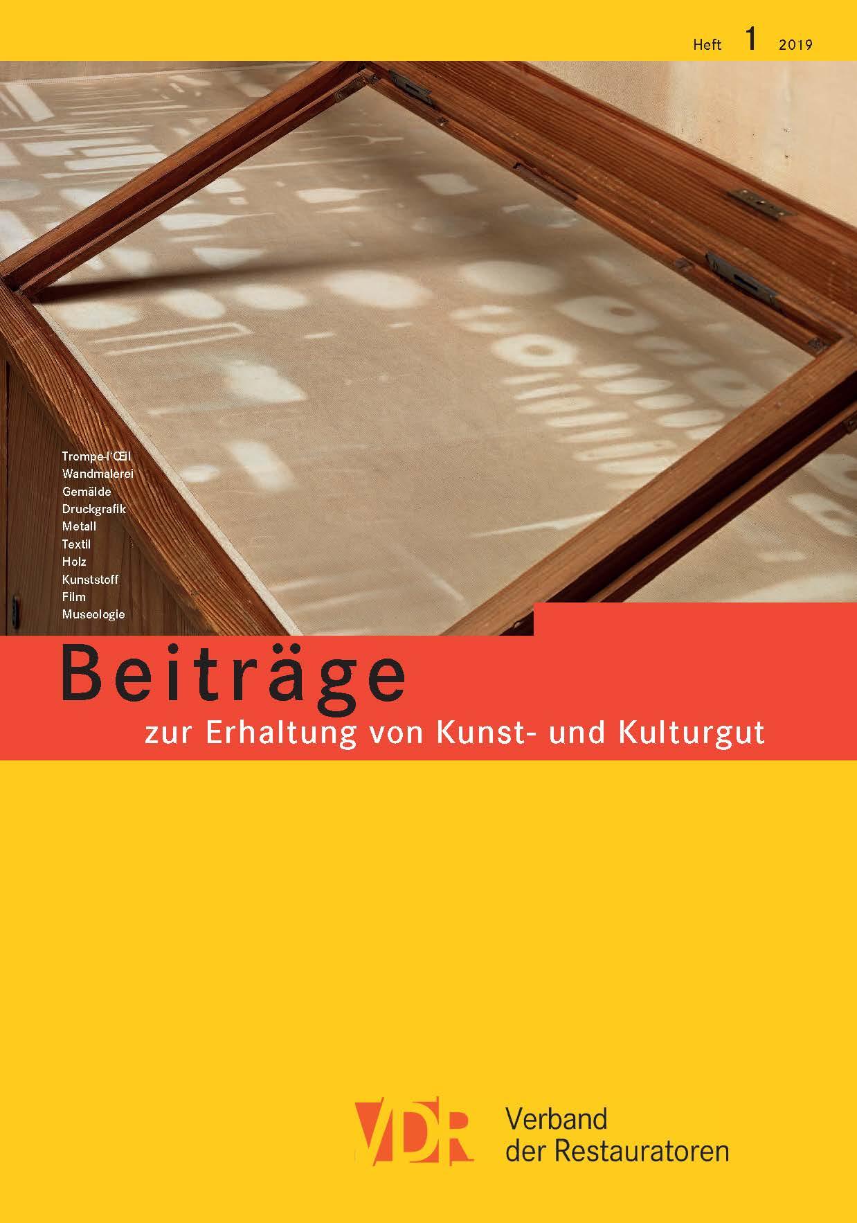 VDR Zeitschrift_Heft 01-19_Cover