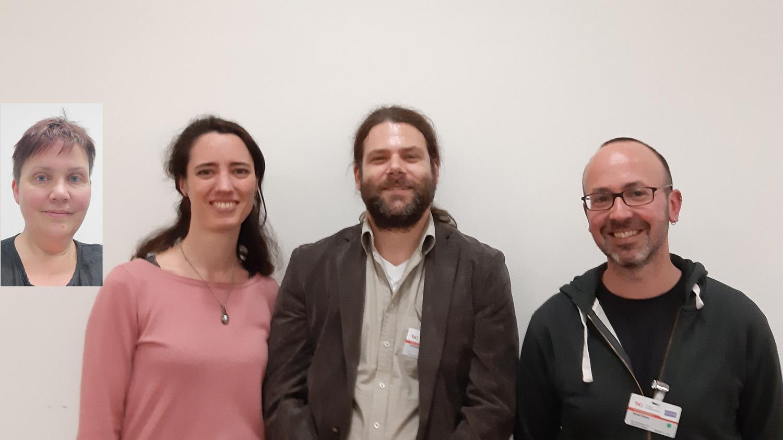 Das im Mai 2019 neu gewählte Sprechergremium, v.l.n.r.: Prof. Dr. Angelika Rauch, Daniela Bruder, Christian Huber, Harald Kühner