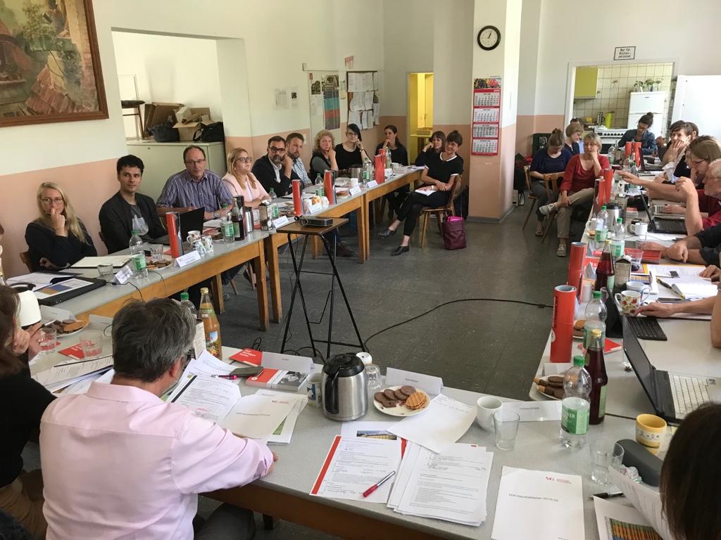 38. Vorstandssitzung im Gärtnerhaus des Marstallgebäudes der MHK, Kassel 2019 (Foto: Anne Harmssen)
