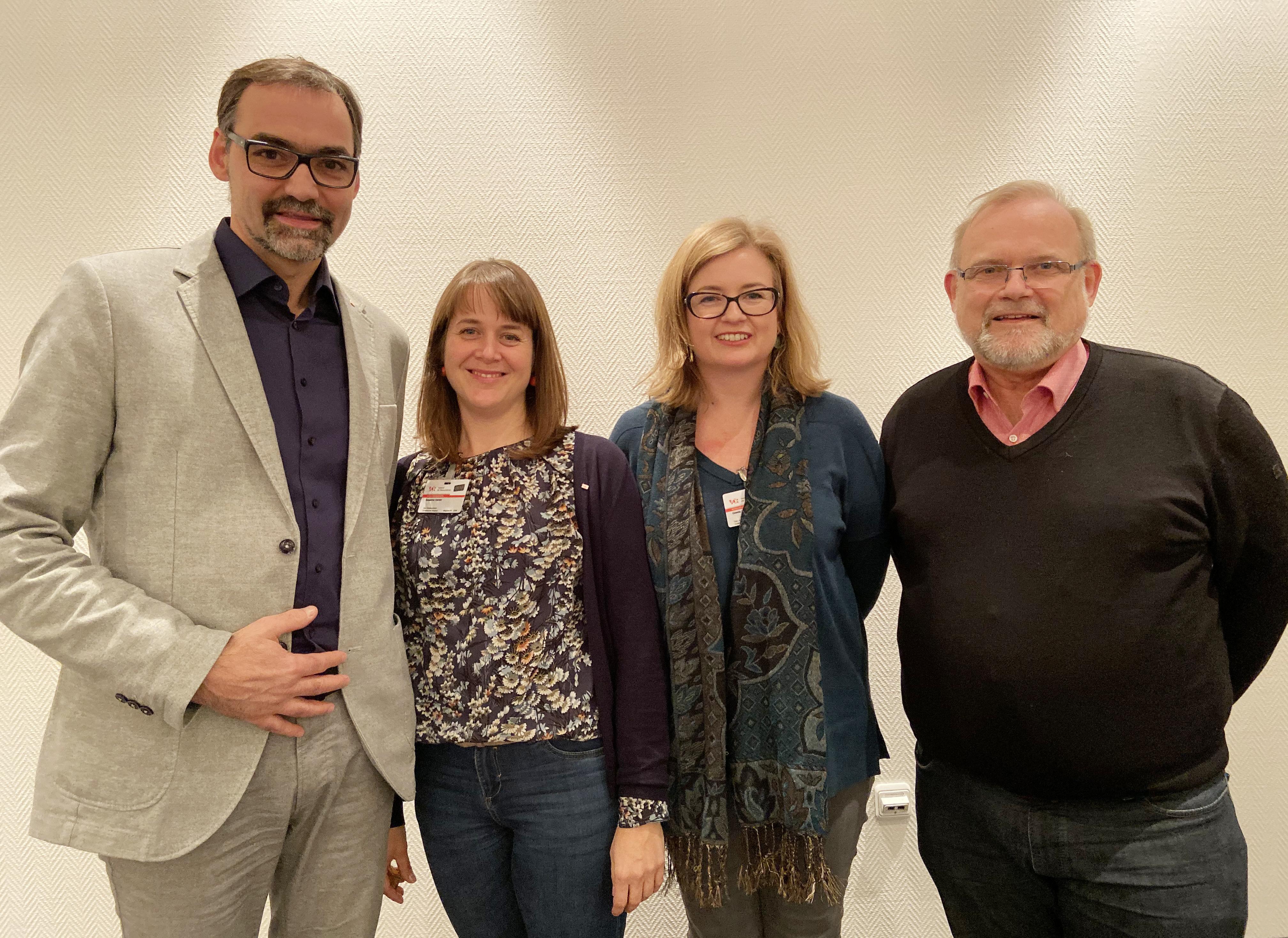 Das neue Präsidium (v.li.) Sven Taubert, Susanne Danter, Gisela Gulbins und Dirk Sturmfels (nicht im Bild: Julia Brandt)