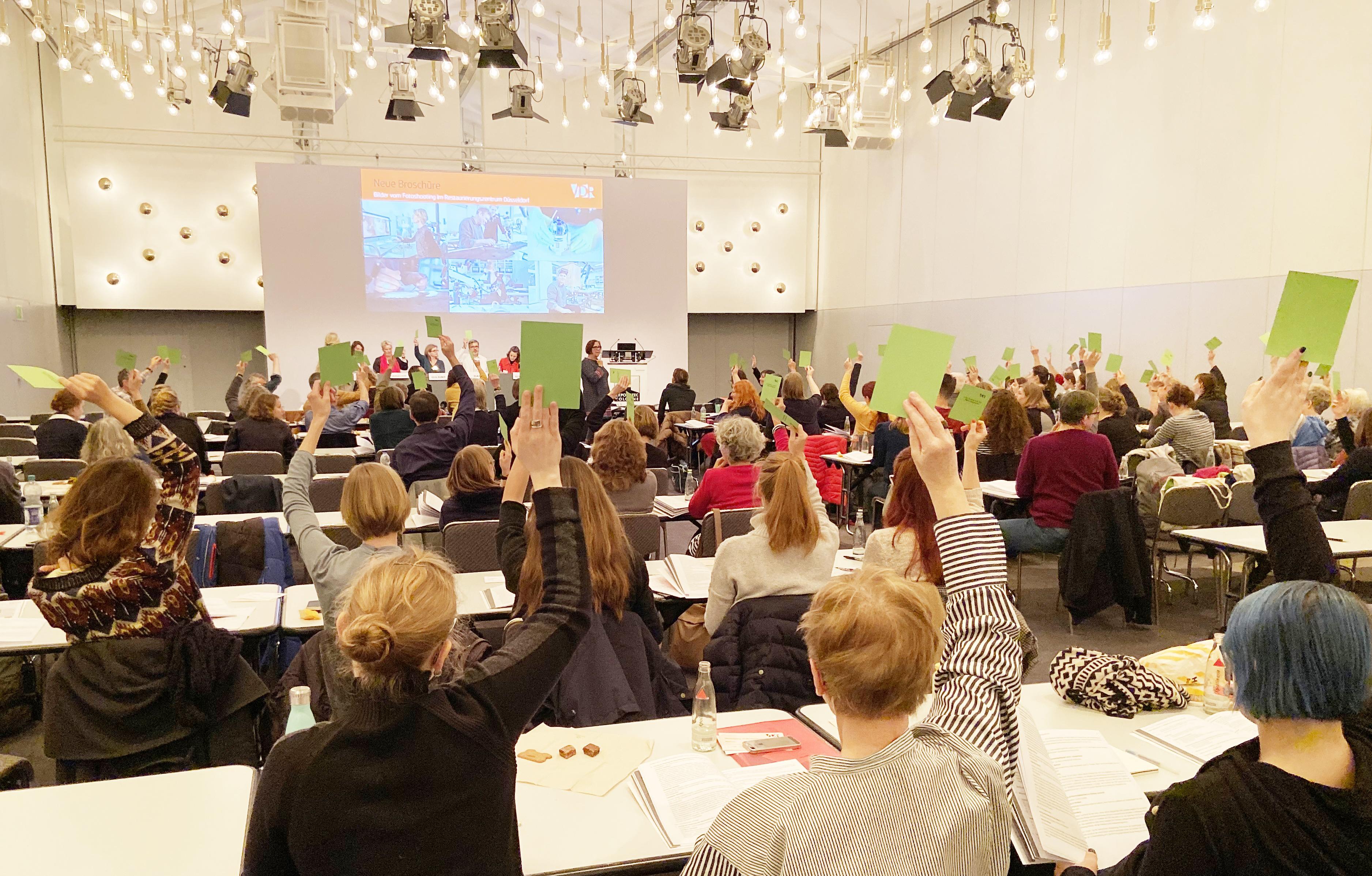 Die Wahlen bei der Mitgliederversammlung 2019. Foto: Patricia Brozio, VDR