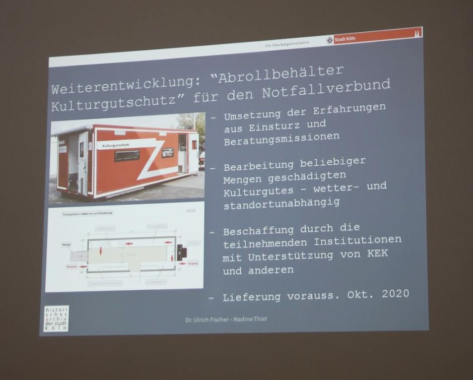 Vortrag über das Historische Archiv der Stadt Köln (Foto: Tatjana Held)