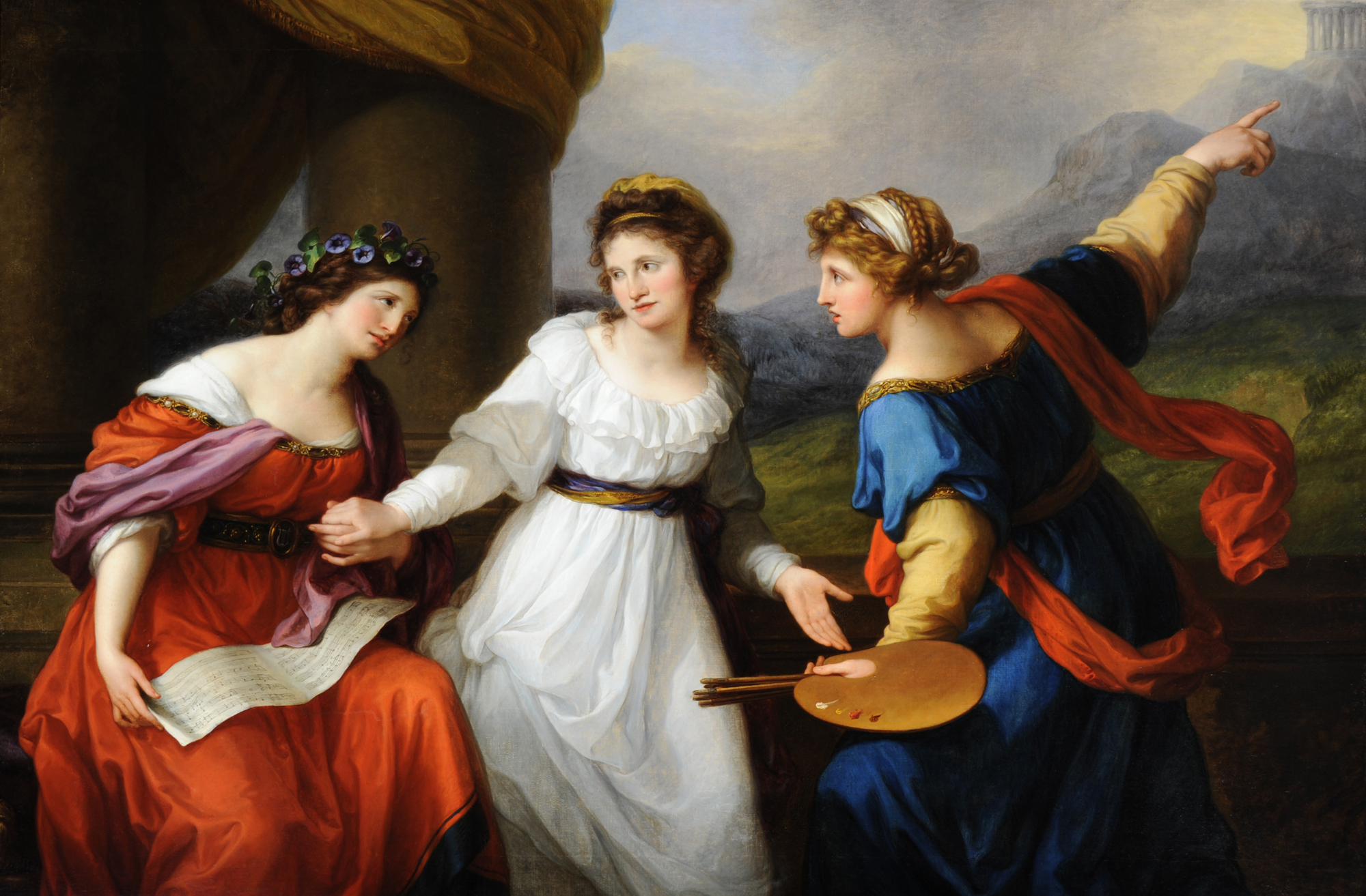 Angelika Kauffmann, Selbstbildnis am Scheideweg zwischen Musik und Malerei, 1794. National Trust Collections (Nostell Priory, The St. Oswald Collection). Purchased by private treaty with the help of a grant from the Heritage Lottery Fund. © National Trust Collections, Foto: National Trust Images