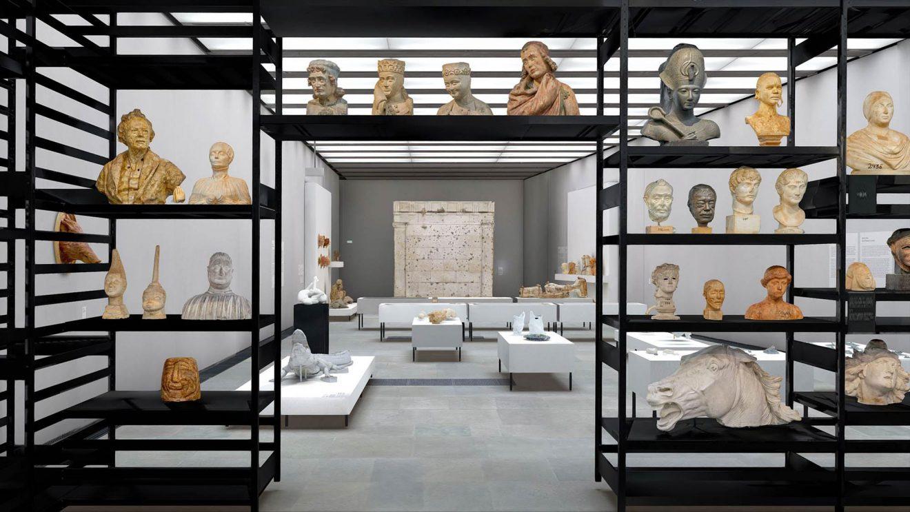 """Nah am Leben"", 3D-Modell des Ausstellungsraumes © Staatliche Museen zu Berlin, Gipsformerei / Foto: Studio Jester Blank"