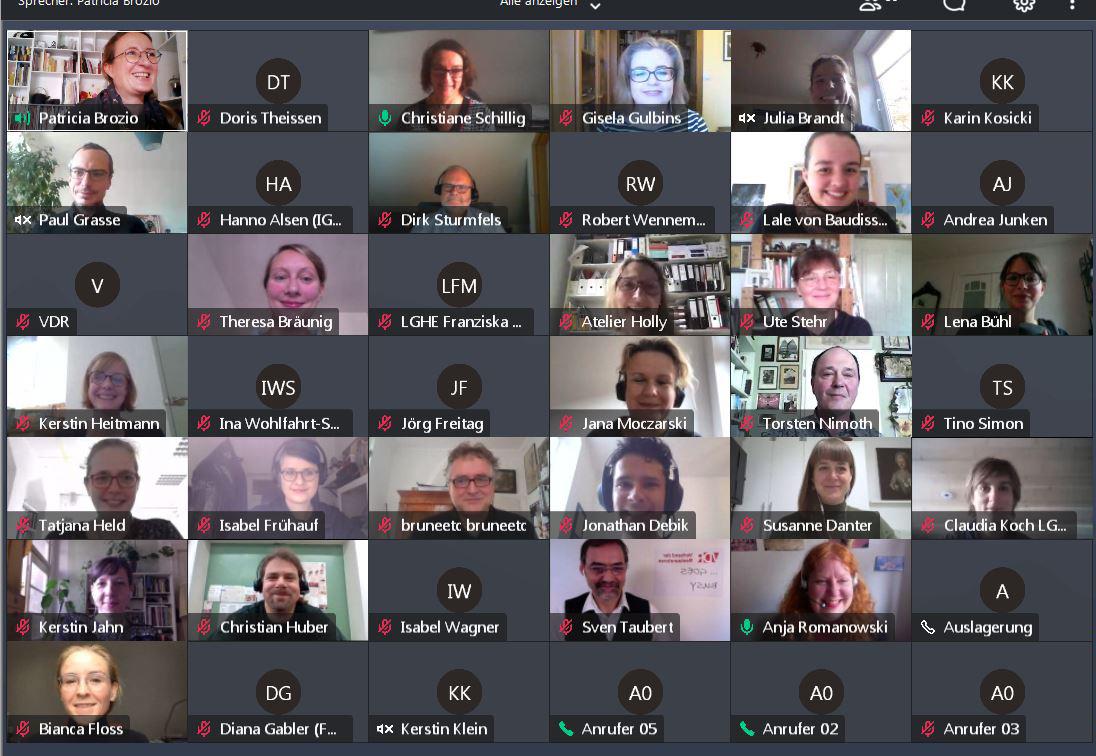 40. VDR-Vorstandssitzung (Screenshot: Patricia Brozio)