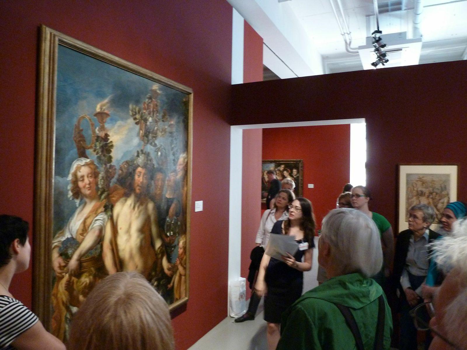 Besichtigung der Ausstellung während der Jordaens-Tagung in Kassel.