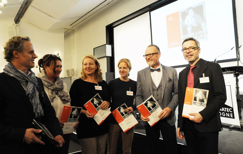 Die Vertreter:innen von ARCA, SKR, ÖRV, VDR und DNK in Köln; v.l.: Andreas Franz, Susanne Beseler, Verena Mumelter, Uwe Koch und Jan Raue