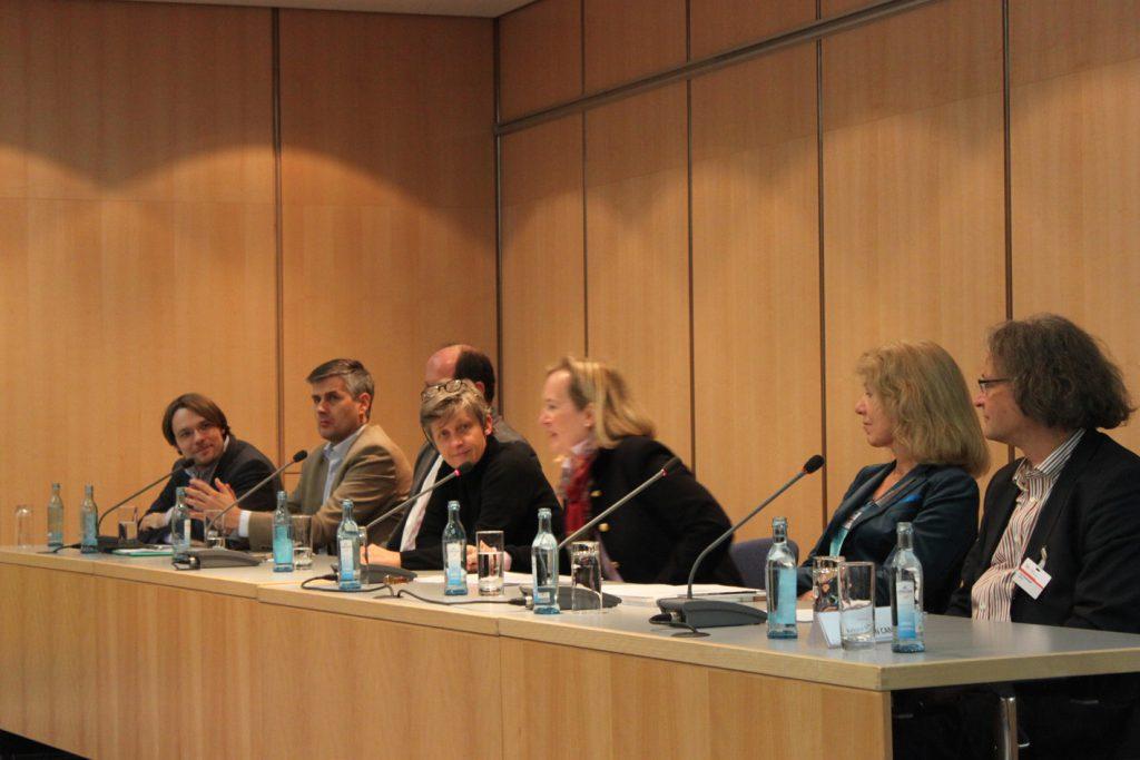 Das erste VDR-Podium auf der denkmal im Novmeber 2014. Foto: VDR