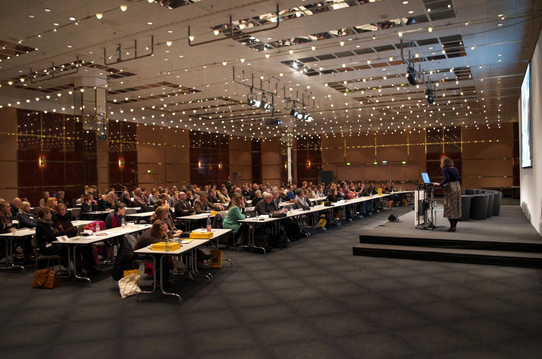 Der VDR auf der Exponatec 2013 während des Vortrags von Mechthild Noll-Minor. Foto: Meyer-Doberenz