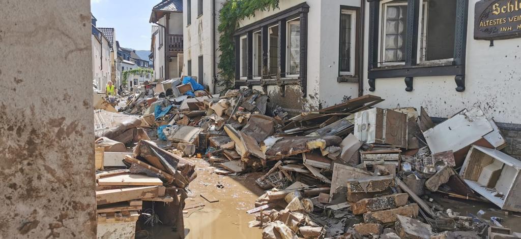 Eindruck von der Flutkatastrophe in Dernau. Foto: Alina Bökert