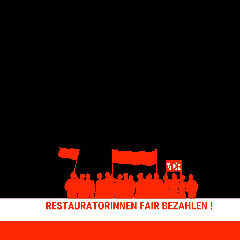 """Facebook-Design mit """"Restauratorinnen"""" im Schriftzug."""