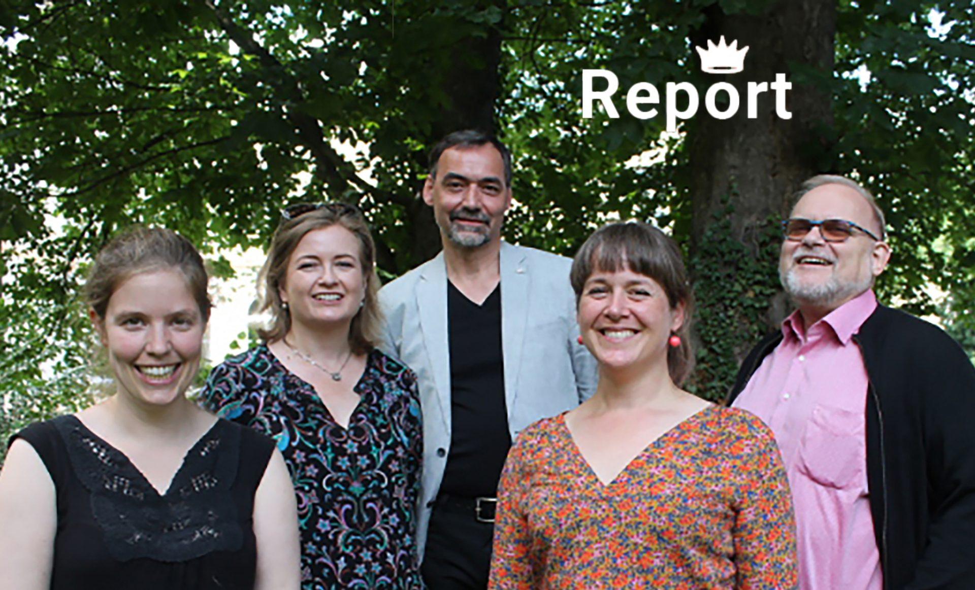 Das VDR-Präsidium 2021: (von links) Julia Brandt, Gisela Gulbins, Sven Taubert, Susanne Danter und Dirk Sturmfels