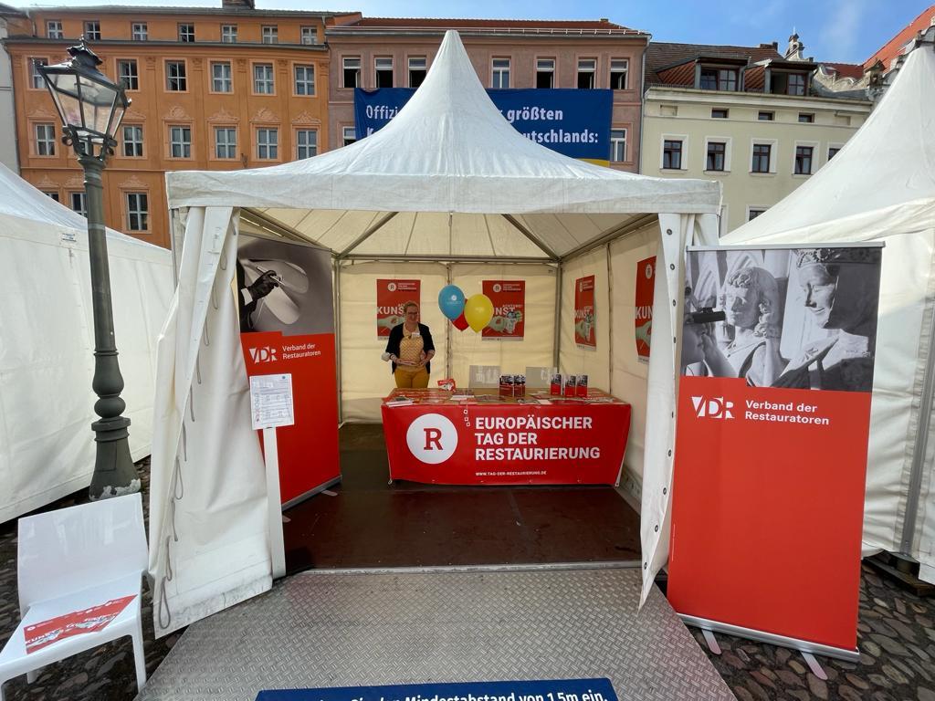 Der VDR-Stand am Marktplatz