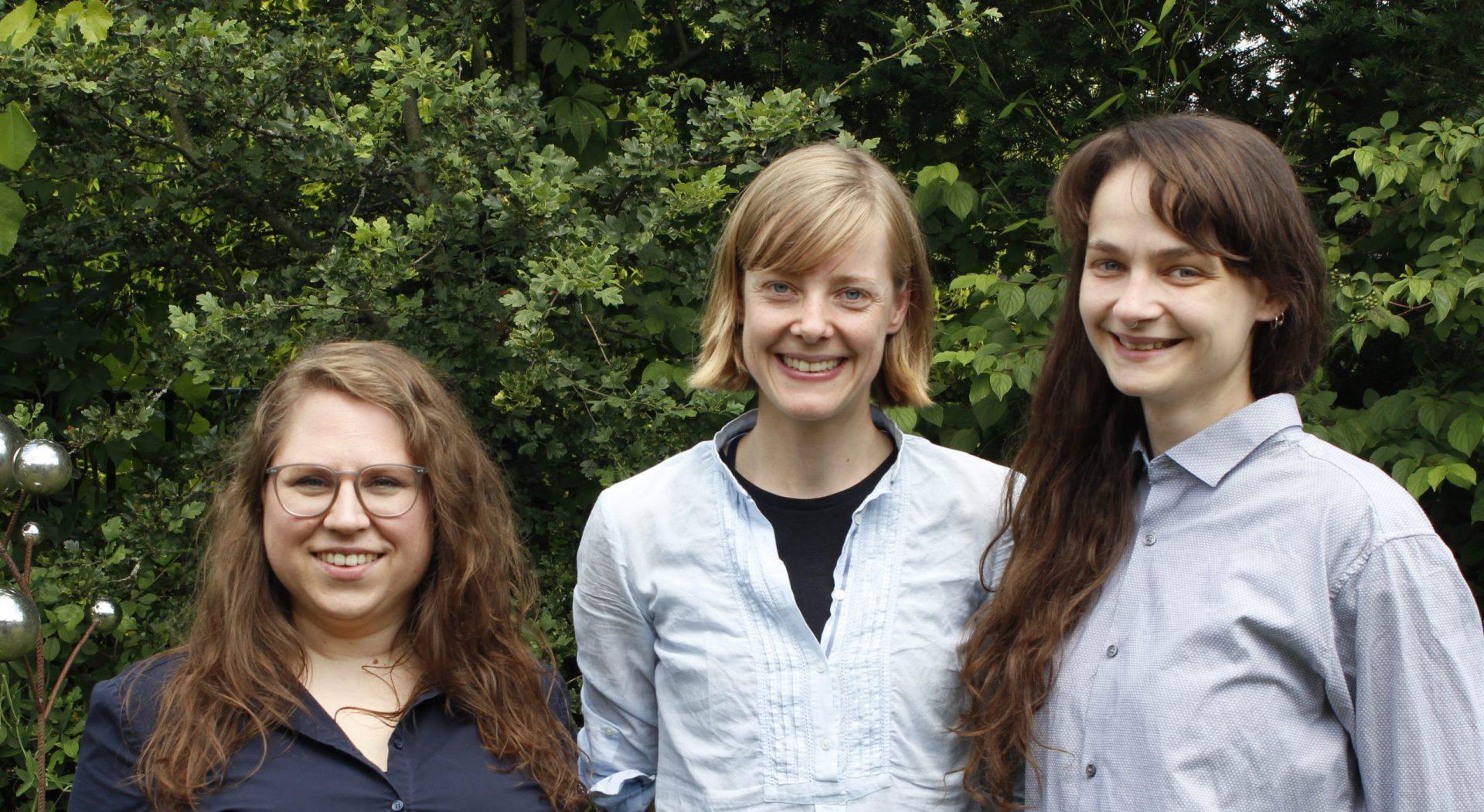 Die Sprecherinnen der Fachgruppe Textil (von links): Nadine Schönhütte, Kerstin Heitmann und Vanessa Schmitt
