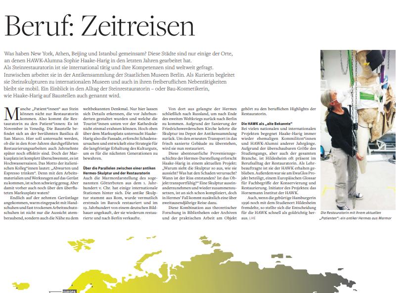 Blick in die Jubiläumszeitung der HAWK.
