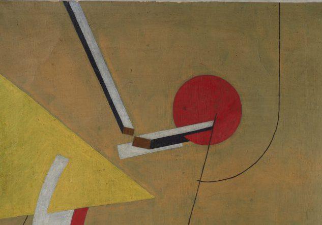 """Ausschnitt von """"Proun"""", 1923, frühere Zuschreibung El Lissitzky, Tempera auf Papier, Museum Ludwig (Foto: Rheinisches Bildarchiv, Köln)"""