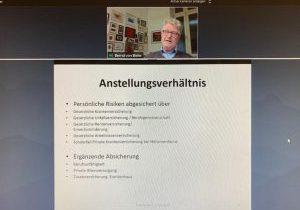 """Bernd von Bieler im VDR-Webinar """"Versicherungsschutz für selbstständige und angestellte Restauratoren"""""""